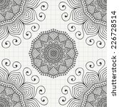 indian seamless pattern with... | Shutterstock .eps vector #226728514