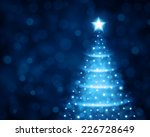 christmas tree from light... | Shutterstock . vector #226728649