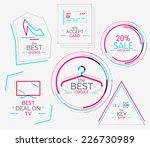minimal line design shopping... | Shutterstock .eps vector #226730989