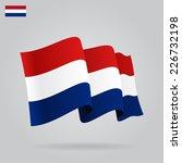 Flat And Waving Dutch Flag....