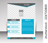 vector front and back flyer for ... | Shutterstock .eps vector #226733800