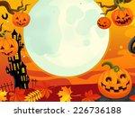 cartoon halloween scene  ... | Shutterstock . vector #226736188