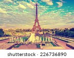 eiffel tower and fountain at... | Shutterstock . vector #226736890