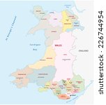 ������, ������: wales administrative map