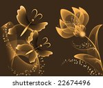 transparent flowers and... | Shutterstock . vector #22674496