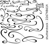 calligraphic design elements  ...   Shutterstock .eps vector #226748614