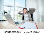 businessman happy to work on a... | Shutterstock . vector #226756060