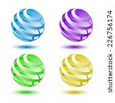 abstract colorful 3d globe... | Shutterstock .eps vector #226756174