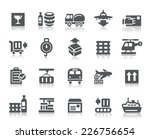 logistics and transport icons | Shutterstock .eps vector #226756654