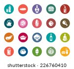 food and drinks color icons | Shutterstock .eps vector #226760410