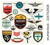 mega set of retro emblems ... | Shutterstock .eps vector #226762828