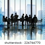 silhouette group of business... | Shutterstock . vector #226766770