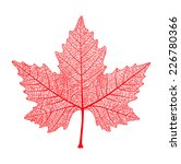 Red Maple Leaf Isolated. Symbol ...
