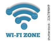 icon wifi zone  free wi fi | Shutterstock .eps vector #226789849
