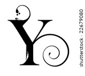Letter Y Stock Vector 22679080