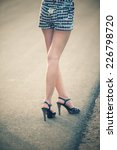 beautiful woman legs in high... | Shutterstock . vector #226798720