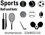 vector design silhouette of... | Shutterstock .eps vector #226802110