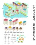 rpg isometric tile collection | Shutterstock .eps vector #226805794