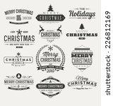vintage christmas insignia set  ...