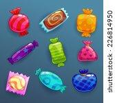 set of bright cartoon candies | Shutterstock .eps vector #226814950