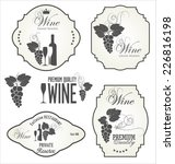 wine label collection | Shutterstock .eps vector #226816198
