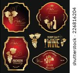 wine label collection | Shutterstock .eps vector #226816204