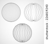 abstract design sphere. vector... | Shutterstock .eps vector #226819240