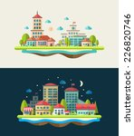 illustration of vector flat... | Shutterstock .eps vector #226820746