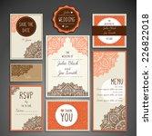 wedding card collection | Shutterstock .eps vector #226822018