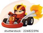 kart going at super speed... | Shutterstock .eps vector #226822396