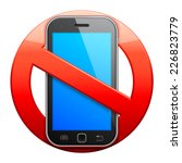 no cell phone sign. | Shutterstock .eps vector #226823779