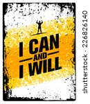 i can and i will. workout and... | Shutterstock .eps vector #226826140