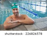 Portrait Of A Fit Swimmer In...