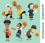 street basketball players... | Shutterstock .eps vector #226832449