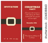christmas party invitation.... | Shutterstock .eps vector #226838860