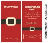 christmas party invitation.... | Shutterstock .eps vector #226838860