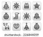 christmas buttons with stroke   ... | Shutterstock .eps vector #226844059