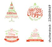 christmas set of labels and... | Shutterstock .eps vector #226848469