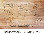 illustration with world map ... | Shutterstock . vector #226849198