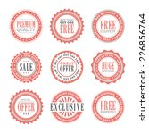 a set of 9 retail stamps and... | Shutterstock .eps vector #226856764