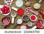 christmas cupcake decorations... | Shutterstock . vector #226863700