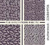 simple pattern collection 4 in 1 | Shutterstock .eps vector #226864936