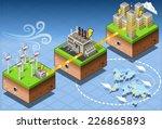 isometric 3d green alternative... | Shutterstock .eps vector #226865893