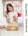 little girl in lovely interior ... | Shutterstock . vector #226867930