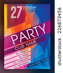 party flyer. nightclub flyer. | Shutterstock .eps vector #226873456