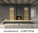 country style living room 3d... | Shutterstock . vector #226873936