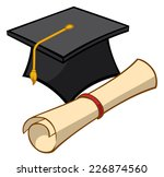 an illustration of a graduation ... | Shutterstock .eps vector #226874560