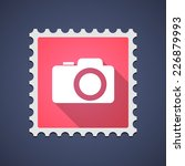 illustration of a mail stamp... | Shutterstock .eps vector #226879993