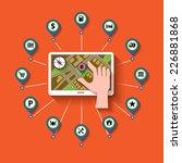 mobile gps navigation and set... | Shutterstock .eps vector #226881868