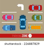 parking design over gray... | Shutterstock .eps vector #226887829